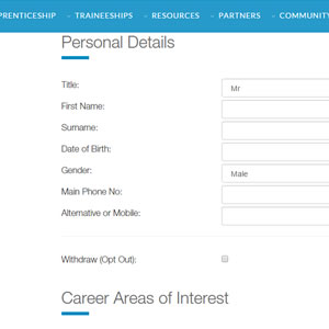 GetMyFirstJob | Updating your GetMyFirstJob information