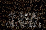 Lowest number of University applications since 2012!