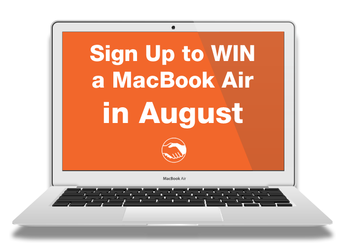Sign Up to GetMyFirstJob in August and you could WIN a MacBook Air